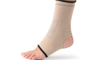 Ankle in brace